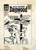 Original Comic Art:Covers, Hy Eisman (attributed) - Original Cover Art for Dagwood #70(Harvey, 1956). The art is in great condition. The art paper is ...