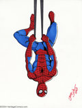 "Original Comic Art:Splash Pages, JE Smith - Original Spider-Man Illustration (2004). Your friendlyneighborhood Web-Slinger is just ""hanging out"" in this coo..."