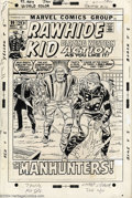"Original Comic Art:Covers, Larry Lieber - Original Cover Art for Rawhide Kid #99 (Marvel,1972). Larry Lieber illustrates the cover for the story ""The ..."