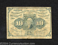 Fractional Currency:First Issue, First Issue 10c, Fr-1242, VG-Fine. This is a heavily ...
