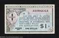 Military Payment Certificates: , Series 461 $1 Extremely Fine. This $1 is bright and crisp with ...