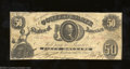 Confederate Notes:1861 Issues, 1861 $50 Washington in center; Tellus on left, T-8, Very Fine. ...