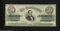 Confederate Notes:1861 Issues, 1861 $50 Black with green overprint; Jefferson Davis, T-16, ...