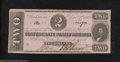 Confederate Notes:1862 Issues, 1862 $2 Judah P. Benjamin, T-54, About Uncirculated. This ...