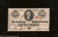 Confederate Notes:1863 Issues, 1863 50 Cents Bust of Jefferson Davis, T-63, Choice Crisp ...