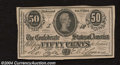 Confederate Notes:1864 Issues, 1864 50 Cents Bust of Jefferson Davis, T-72, Extremely Fine-...