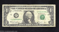 Error Notes:Shifted Third Printing, Web Error 1988A $1 Federal Reserve Note, Fr-1917-F, Fine. This ...