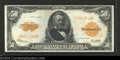 Large Size:Gold Certificates, Fr. 1200 $50 1922 Gold Certificate About Extremely Fine. ...