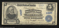 National Bank Notes:New Jersey, Trenton, NJ - $5 1902 Plain Back Fr. 598 The First-...