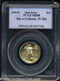 Errors: , 1999-W G$10 Quarter-Ounce Gold Eagle--Struck with ...