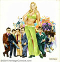 "Original Illustration Art:Mainstream Illustration, G. Akimoto - Original Movie Poster Art (1973).. For ""The Little Cigars Mob,"" ('They look sort of LITTLE and CUTE... but so d... (Total: 4 items Item)"