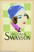 "Original Illustration Art:Mainstream Illustration, Max Baker - Attributed - Original Movie Advertising Art (c.1928)..Gloria Swanson, probably for ""Sadie Thompson."". Gouache o..."