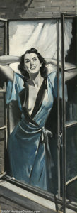 Original Illustration Art:Pin-up and Glamour Art, August Bleser (1898-1966) Original Magazine Story Illustration(c.1940).. Redbook magazine, for And In The Afternoon.....