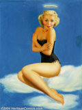 Original Illustration Art:Pin-up and Glamour Art, Billy De Vorss - Original Pin-up Art (1940-1950).. A rare oil oncanvas offering, as De Vorss primarily worked in pastel.. O...