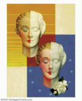 Original Illustration Art:Mainstream Illustration, Edwin A. Georgi (1896-1964) Original Magazine Story Illustration(c.1935). This deco-style painting is a marvelous example o...