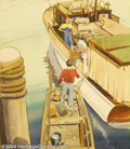 Original Illustration Art:Mainstream Illustration, Rolf Klep - Original Illustration (1935).. Most likely a cover forMotor Boating magazine, or similar periodical.. Water...