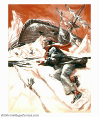 Bruce Minney - Original Illustration (1960-1970). This painting was published as a story illustration in one of the nati...