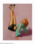 Original Illustration Art:Pin-up and Glamour Art, Earl Steffa Moran (1893-1984) Original Pin-up Art (c.1954).. JudyGarland, published by the Brown & Bigelow Calendar Company...(Total: 4 items Item)