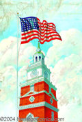 Original Illustration Art:Mainstream Illustration, Taylor Oughton - Attributed - Original Calendar Art (c.1940)..Independence Hall Tower, Philadelphia. Published by the Josep...(Total: 3 items Item)