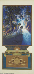 Original Illustration Art:Mainstream Illustration, Maxfield Parrish (1870-1966) Vintage Print (1930).. TheWaterfall, for the 1931 Edison Mazda calendar. Mint.. Print onp...