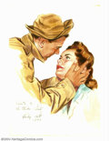 Original Illustration Art:Mainstream Illustration, Rudy Pott - Original Illustration (1943). Rudy Pott illustrated formany of the national periodicals, including The Saturd...
