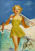 Original Illustration Art:Pin-up and Glamour Art, Ellen Barbara Segner - Original Glamour Art (1950-1960).. Coverpainting, possibly for Liberty magazine or similar natio...