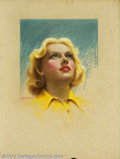 Original Illustration Art:Pin-up and Glamour Art, Charles Gates Sheldon (1889-1960) Original Magazine Cover Art..Carole Lombard Screenland October, 1935.. Pastel on boar... (Total:8 items Item)