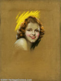 Original Illustration Art:Pin-up and Glamour Art, Charles Gates Sheldon (1889-1960) Original Magazine Cover Art(c.1930).. Janet Gaynor, probably Screenland or Photopla...
