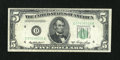 Error Notes:Skewed Reverse Printing, Fr. 1962-D $5 1950A Federal Reserve Note. Fine-Very Fine.. ...