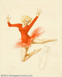 Alberto Vargas (1896-1982) Original Pin-up Art (1944). Bombs Away!, a mascot design by Vargas for World War II bombing...