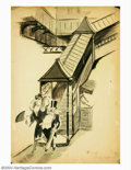 "Original Illustration Art:Mainstream Illustration, Paul Webb - Original Illustration (c.1930).. Published in the oldLife magazine with the (possible) caption, ""That was s..."