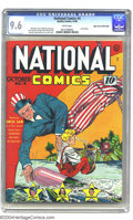 Golden Age (1938-1955):Superhero, National Comics #4 Mile High pedigree (Quality, 1940) CGC NM+ 9.6 White pages. Lou Fine's career as a cover artist was all t...