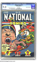 Golden Age (1938-1955):Superhero, National Comics #12 Mile High pedigree (Quality, 1941) CGC VF/NM 9.0 White pages. At any grade the Mile High collection just...