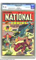 Golden Age (1938-1955):Superhero, National Comics #17 Mile High pedigree (Quality, 1941) CGC NM+ 9.6 White pages. He isn't Lou Fine (and who is?), but Reed Cr...