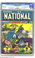 Golden Age (1938-1955):Superhero, National Comics #18 Mile High pedigree (Quality, 1941) CGC NM+ 9.6 White pages. This remarkable Lou Fine/Reed Crandall cover...