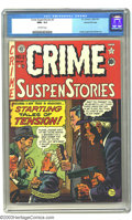 Golden Age (1938-1955):Crime, Crime SuspenStories #2 Gaines File pedigree 8/11 (EC, 1950) CGC NM+ 9.6 Off-white pages. Johnny Craig's cover is supported b...
