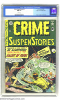 Golden Age (1938-1955):Horror, Crime SuspenStories #4 Mile High pedigree (EC, 1951) CGC NM 9.4White pages. This comic is something of a curiosity. It's is...