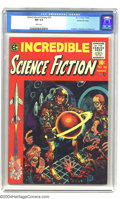 Golden Age (1938-1955):Horror, Incredible Science Fiction #30 Gaines File pedigree 9/12 (EC, 1955)CGC NM 9.4 White pages. A great Jack Davis cover leads t...