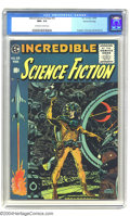 Golden Age (1938-1955):Science Fiction, Incredible Science Fiction #33 Gaines File pedigree 8/11 (EC, 1956)CGC NM+ 9.6 Off-white to white pages. Overstreet doesn't...