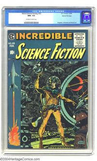Incredible Science Fiction #33 Gaines File pedigree 8/11 (EC, 1956) CGC NM+ 9.6 Off-white to white pages. Overstreet doe...
