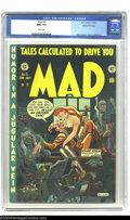 Golden Age (1938-1955):Humor, Mad #5 Gaines File pedigree 4/12 (EC, 1953) CGC NM+ 9.6 White pages. This just happens to be one of the Mad issues that ...