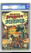 Golden Age (1938-1955):Non-Fiction, Picture Stories from Science #1 Gaines File pedigree 4/11 (EC,1947) CGC VF/NM 9.0 Off-white to white pages. This first scie...