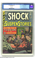 Golden Age (1938-1955):Horror, Shock SuspenStories #1 (EC, 1952) CGC VF- 7.5 Off-white pages. AlFeldstein's classic electrocution cover launches the title...