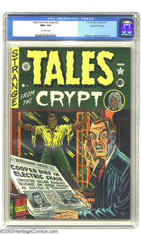 Tales From the Crypt #21 Gaines File pedigree 1/10 (EC, 1951) CGC NM+ 9.6 Off-white pages. The second issue of this titl...