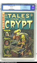 Golden Age (1938-1955):Horror, Tales From the Crypt #29 Aurora pedigree (EC, 1952) CGC VF- 7.5Off-white pages. It's the start of a new era, as Jack Davis ...