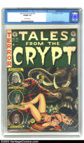 Golden Age (1938-1955):Science Fiction, Tales From the Crypt #32 (EC, 1952) CGC VF/NM 9.0 Off-white pages.You think you're having a bad day? Don't try for symp...