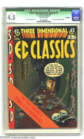 Golden Age (1938-1955):Horror, Three Dimensional EC Classics #1 (EC, 1954) CGC Qualified VG+ 4.5Off-white pages. A cool Kurtzman cover fronts this interes...