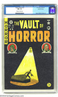 Golden Age (1938-1955):Horror, Vault of Horror #16 Gaines File pedigree 1/11 (EC, 1950) CGC NM+9.6 Off-white to white pages. This issue is highlighted by ...