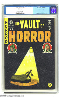 Vault of Horror #16 Gaines File pedigree 1/11 (EC, 1950) CGC NM+ 9.6 Off-white to white pages. This issue is highlighted...