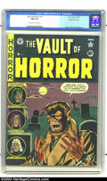 Golden Age (1938-1955):Horror, Vault of Horror #17 Gaines File pedigree 4/11 (EC, 1951) CGC NM 9.4Off-white to white pages. Full moon alert for all you we...